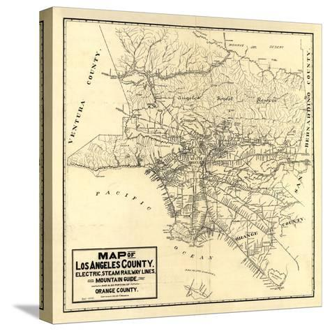 1912 LA Railway Map-N^ Harbick-Stretched Canvas Print
