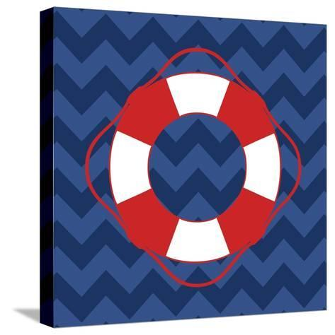Nautical Life Preserver-N^ Harbick-Stretched Canvas Print