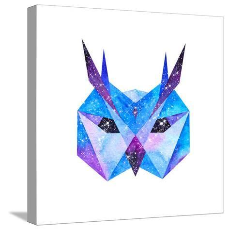 Watercolor Cosmic Animals. Hand Drawn Illustration-librebird-Stretched Canvas Print
