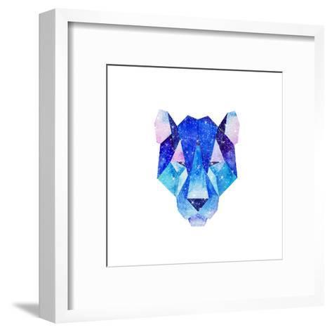 Watercolor Cosmic Animals. Hand Drawn Illustration-librebird-Framed Art Print