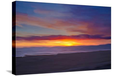 Ocean 9-Sally Linden-Stretched Canvas Print
