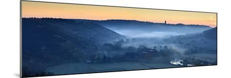 Morning Fog in the Unstruttal, Near Freyburg (Unstrut), Burgenlandkreis, Saxony-Anhalt, Germany-Andreas Vitting-Mounted Photographic Print