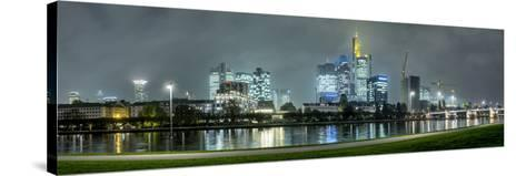 Germany, Hesse, Frankfurt Am Main, Riverside Promenade at the Main with the Skyline at Dusk-Bernd Wittelsbach-Stretched Canvas Print