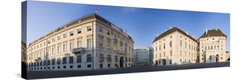 Austria, Vienna, Ballhausplatz, Federal Chancellery of the Republic, Outside-Facade, Panorama-Rainer Mirau-Stretched Canvas Print