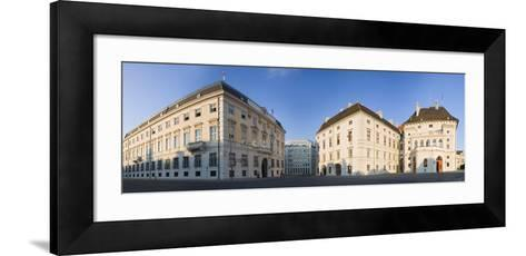 Austria, Vienna, Ballhausplatz, Federal Chancellery of the Republic, Outside-Facade, Panorama-Rainer Mirau-Framed Art Print