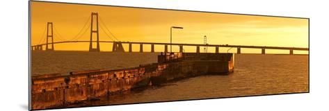 Denmark, Funen, Great Belt Bridge, Sunset-Chris Seba-Mounted Photographic Print