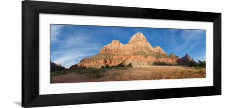 Panorama, USA, Zion National Park-Catharina Lux-Framed Art Print