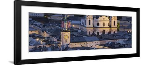 City Centre from Kapuzinerberg, Collegiate Church, Salzburg, Austria-Rainer Mirau-Framed Art Print