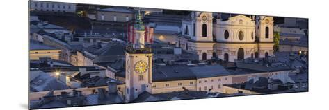 City Centre from Kapuzinerberg, Collegiate Church, Salzburg, Austria-Rainer Mirau-Mounted Photographic Print