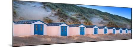 Netherlands, Holland, on the West Frisian Island of Texel, North Holland, Huts on the Beach-Beate Margraf-Mounted Photographic Print