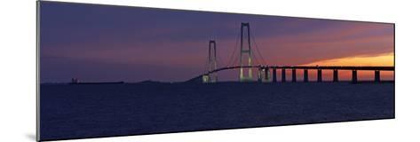 Denmark, Funen, Great Belt Bridge, Dusk-Chris Seba-Mounted Photographic Print