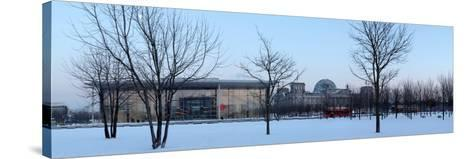 Germany, Berlin, Winter, Reichstag, Paul Lšbe Haus, Panorama-Catharina Lux-Stretched Canvas Print