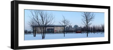 Germany, Berlin, Winter, Reichstag, Paul Lšbe Haus, Panorama-Catharina Lux-Framed Art Print