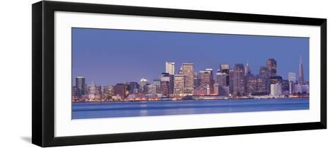 Skyline of San Francisco from Treasure Iceland, California, Usa-Rainer Mirau-Framed Art Print