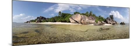 The Seychelles, La Digue, Beach, Rocks, Anse Source D' Argent, Panorama-Catharina Lux-Mounted Photographic Print
