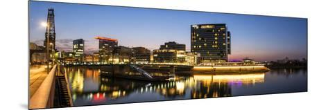 DŸsseldorf, North Rhine-Westphalia, Panorama of the Media Harbour with Hyatt Hotel-Bernd Wittelsbach-Mounted Photographic Print