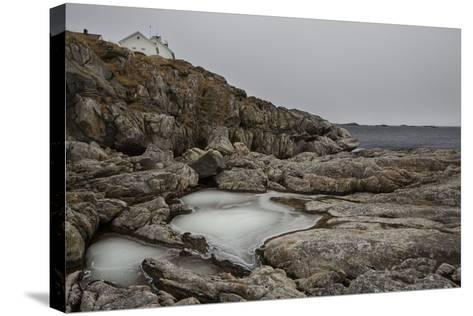 Coastal Scenery in Norway, Lofoten, Henningsv¾r, Long Exposure-Dieter Meyrl-Stretched Canvas Print