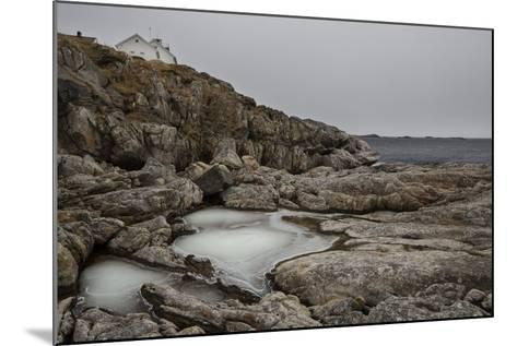 Coastal Scenery in Norway, Lofoten, Henningsv¾r, Long Exposure-Dieter Meyrl-Mounted Photographic Print