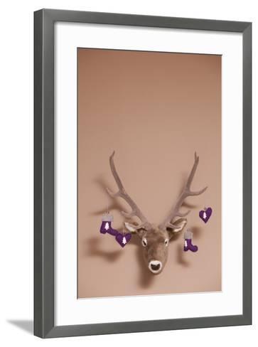 Artificial Deer Head, Tag, Christmas Tag-Nikky Maier-Framed Art Print