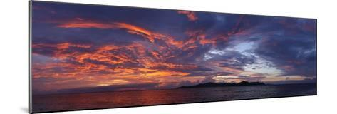 The Seychelles, Evening Mood, View to Praslin, Panorama-Catharina Lux-Mounted Photographic Print