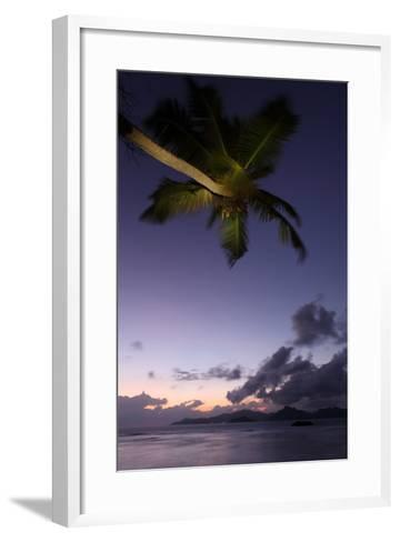 The Seychelles, Evening Mood, Anse Severe, View to Praslin, Palm-Catharina Lux-Framed Art Print
