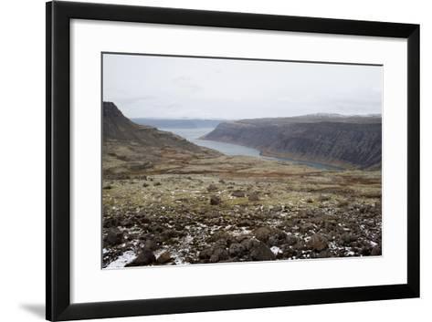 Route 60, View on Geirpjofsfjšrdur, Westfjords, West Iceland-Julia Wellner-Framed Art Print