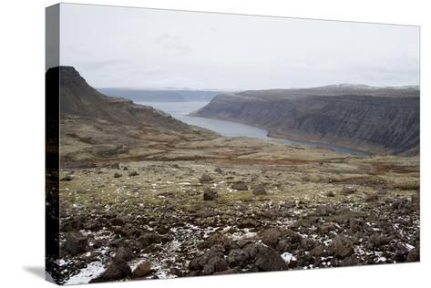 Route 60, View on Geirpjofsfjšrdur, Westfjords, West Iceland-Julia Wellner-Stretched Canvas Print