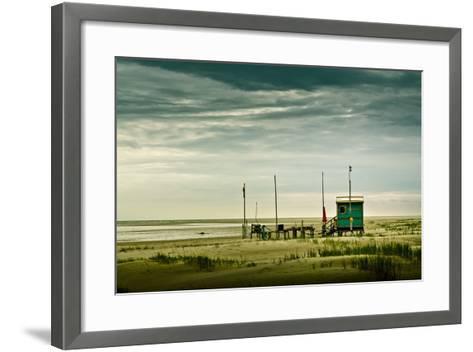 Germany, Schleswig-Holstein, Amrum, Sandy Beach, Sandbank, Kniepsand-Ingo Boelter-Framed Art Print