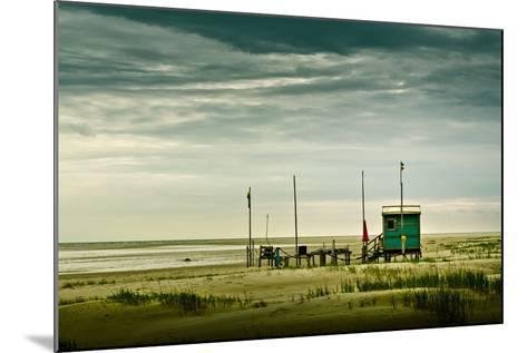 Germany, Schleswig-Holstein, Amrum, Sandy Beach, Sandbank, Kniepsand-Ingo Boelter-Mounted Photographic Print