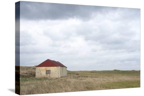Old Barn, Reykjanes Peninsula, South West Iceland-Julia Wellner-Stretched Canvas Print