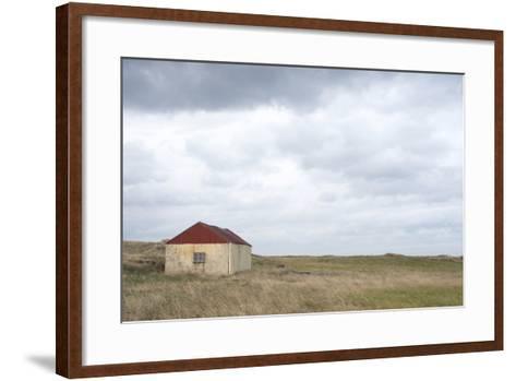 Old Barn, Reykjanes Peninsula, South West Iceland-Julia Wellner-Framed Art Print