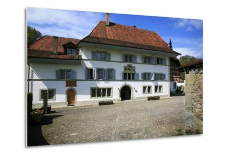 Switzerland, Fribourg on the Sarine River, Inner Courtyard of the 'Convent De La Maigrauge'-Uwe Steffens-Metal Print