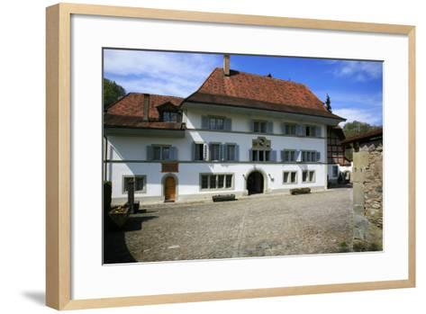 Switzerland, Fribourg on the Sarine River, Inner Courtyard of the 'Convent De La Maigrauge'-Uwe Steffens-Framed Art Print