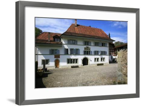 Switzerland, Fribourg on the Sarine River, Inner Courtyard of the 'Convent De La Maigrauge'-Uwe Steffens-Framed Art Print