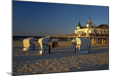 Germany, the Baltic Sea, Island Usedom, Ahlbeck, Pier, Evening Light-Chris Seba-Mounted Photographic Print