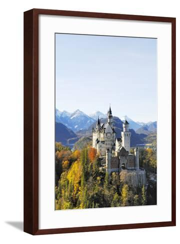 Germany, Bavaria, AllgŠu, Neuschwanstein Castle-Herbert Kehrer-Framed Art Print