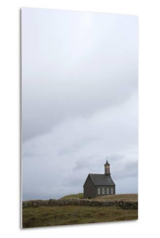 Church Hvalsnes Kirkja, Reykjanes Peninsula, South West Iceland-Julia Wellner-Metal Print