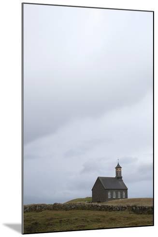 Church Hvalsnes Kirkja, Reykjanes Peninsula, South West Iceland-Julia Wellner-Mounted Photographic Print