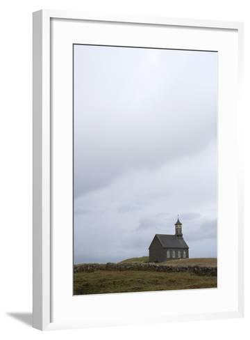 Church Hvalsnes Kirkja, Reykjanes Peninsula, South West Iceland-Julia Wellner-Framed Art Print
