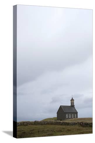 Church Hvalsnes Kirkja, Reykjanes Peninsula, South West Iceland-Julia Wellner-Stretched Canvas Print