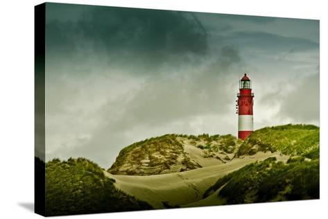 Germany, Schleswig-Holstein, Amrum, Dunes, Lighthouse-Ingo Boelter-Stretched Canvas Print