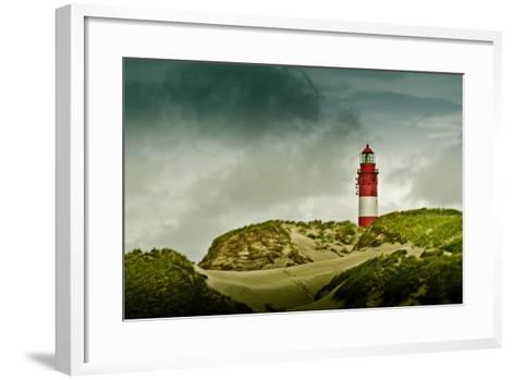 Germany, Schleswig-Holstein, Amrum, Dunes, Lighthouse-Ingo Boelter-Framed Art Print