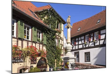 Germany, Baden-WŸrttemberg, Kraichgau (Region), Bretten (Village), Hundles Fountain-Udo Siebig-Mounted Photographic Print