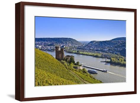 Germany, Hesse, Rheingau (Region), Ehrenfels Castle Ruin, Mouse Tower, Bingen-Udo Siebig-Framed Art Print
