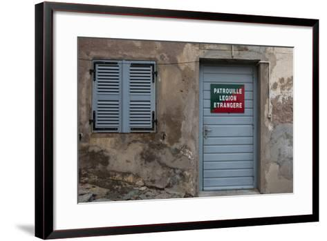 Europe, France, Corsica, Calvi, Entrance to the Foreign Legion-Gerhard Wild-Framed Art Print