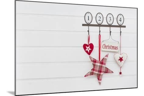 Hook Rail with Christmas Decoration-Andrea Haase-Mounted Photographic Print