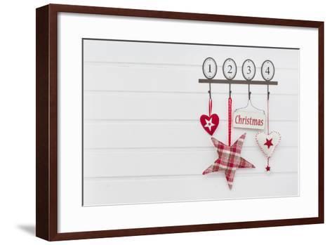 Hook Rail with Christmas Decoration-Andrea Haase-Framed Art Print