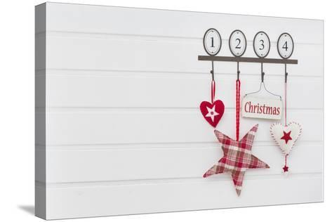 Hook Rail with Christmas Decoration-Andrea Haase-Stretched Canvas Print