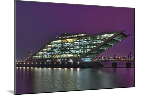 Germany, Hanseatic Town Hamburg, Dockland, Office Building, in the Evening-Sebastian Scheuerecker-Mounted Photographic Print
