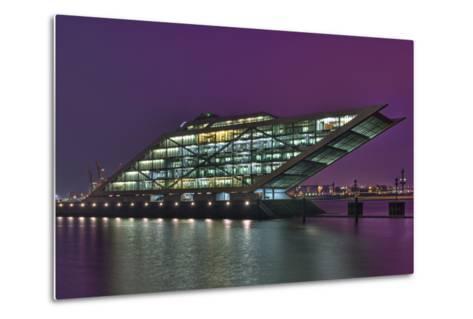 Germany, Hanseatic Town Hamburg, Dockland, Office Building, in the Evening-Sebastian Scheuerecker-Metal Print